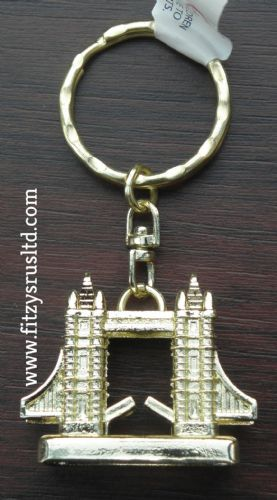LONDON TOWER BRIDGE METAL KEYRING ENGLAND UK SOUVENIR GB KEY RING GIFT